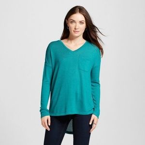 NEW Windward Green Hi-Lo Tunic Sweater [C3]